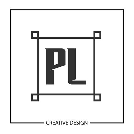 Initial Letter PL Logo Template Design Vector Illustration