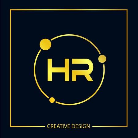 Illustration pour Initial Letter HR Logo Template Design Vector Illustrator - image libre de droit