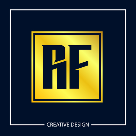Initial Letter RF Logo Template Design Vector Illustration