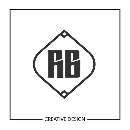 Initial Letter RB Logo Template Design Vector Illustration