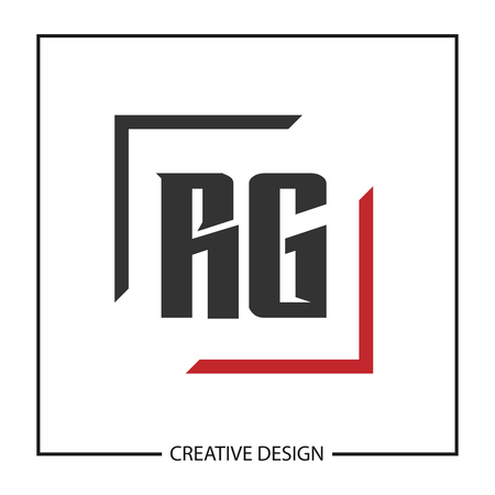 Initial Letter RG Logo Template Design Vector Illustration
