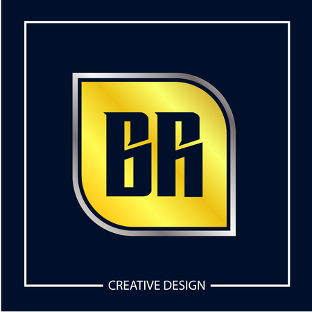 Initial Letter BR Logo Template Design Vector Illustration