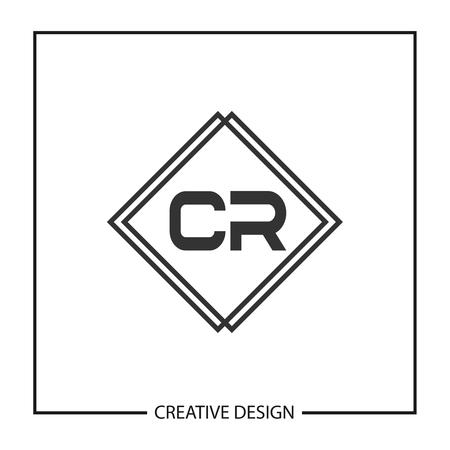 Initial Letter CR Logo Template Design Vector Illustration