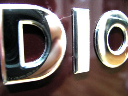 big metal letters in silver glance