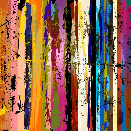 Illustration pour abstract background composition, with paint strokes, splashes and stripes - image libre de droit