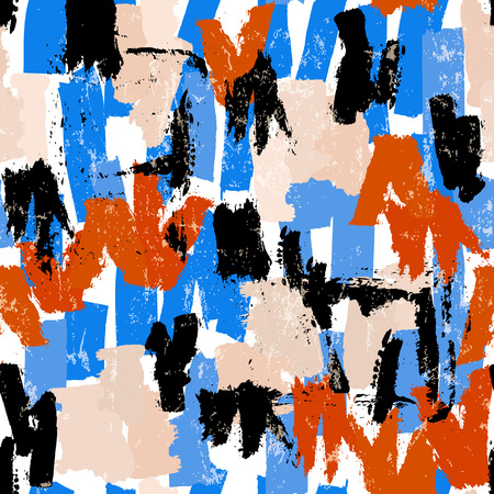 Illustration pour seamless abstract pattern background, illustration with paint strokes and splashes - image libre de droit