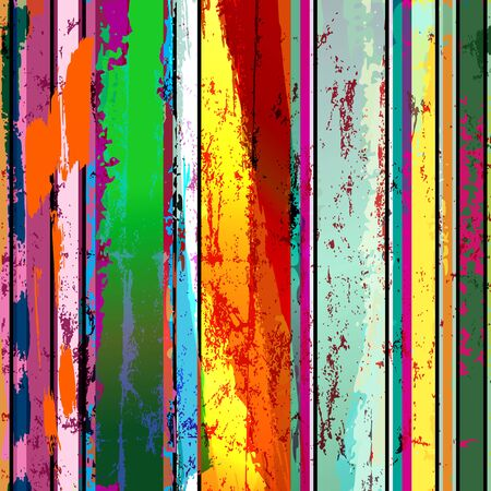Illustration for abstract grunge background composition, with paint strokes and splashes - Royalty Free Image