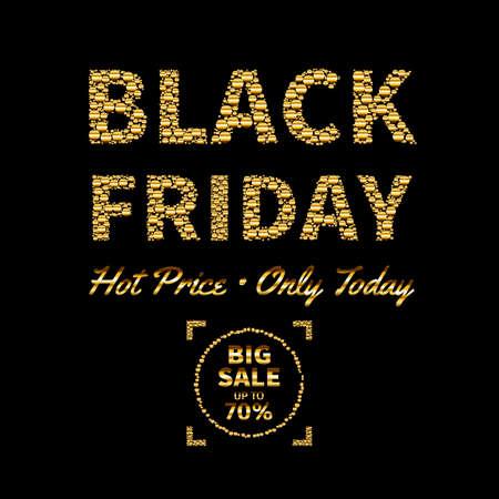 Illustration pour Vector illustration of Black Friday sale text design template - image libre de droit