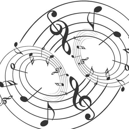 Illustration pour Music notes musical notes White background - Vector illustrator - image libre de droit