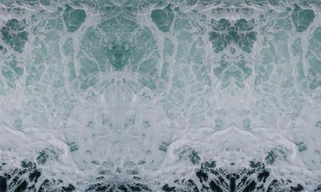 Photo pour wave smashing foam spray sea water waves background white blue - image libre de droit