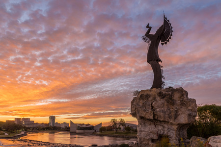 Keeper of the Plains in Wichita, Kansas.