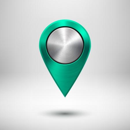 Illustration pour map pointer - image libre de droit