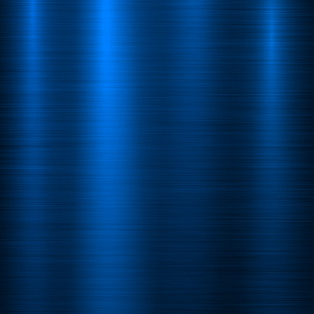 Illustration pour Blue metal technology background with abstract polished, brushed texture, silver, steel, aluminum for design concepts, web, prints, posters, wallpapers, interfaces. Vector illustration. - image libre de droit