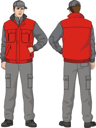 Waistcoat man's warmed with pockets.