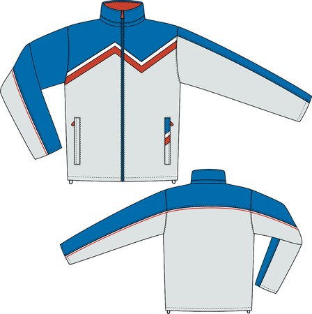 Jacket sports with a long sleeve and pockets