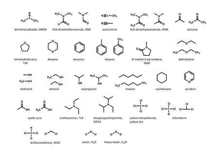 Common organic solvents DMSO, DMF, acetone, THF, dioxane