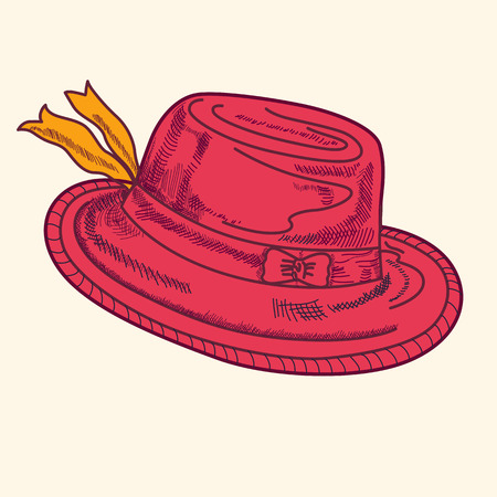 Illustration with red hat