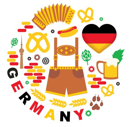 Pattern with Germany icons