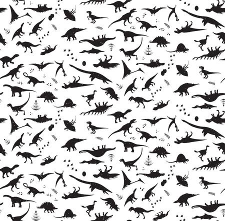 Illustration pour Dinosaur pattern. - image libre de droit