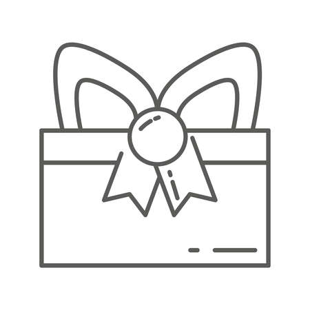 Ilustración de Gift box with ribbon isolated icon - Imagen libre de derechos