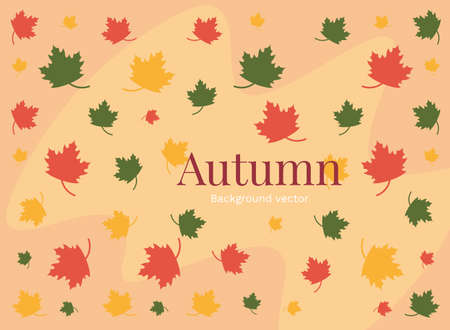 Ilustración de Autumn leaves colorful background illustration - Imagen libre de derechos