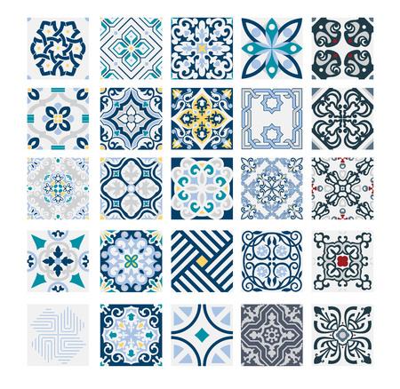Illustration for tiles Portuguese patterns antique seamless design in Vector illustration vintage - Royalty Free Image