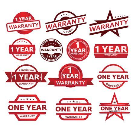 Illustration pour warranty shop promotion tag design for marketing - image libre de droit