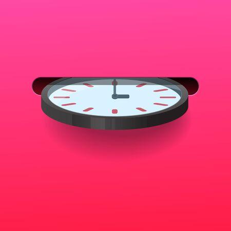 Illustration pour Insert clock into the slot,Time saving concept,Vector illustration. - image libre de droit