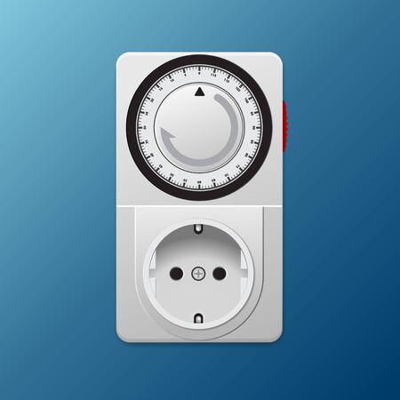 Power socket timer vector illustration.