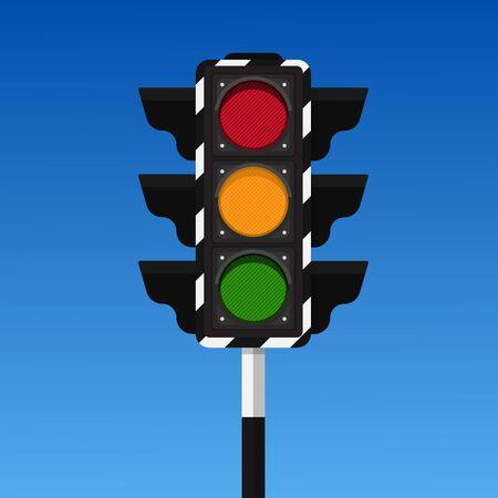 Illustration for Traffic light vector illustration. - Royalty Free Image