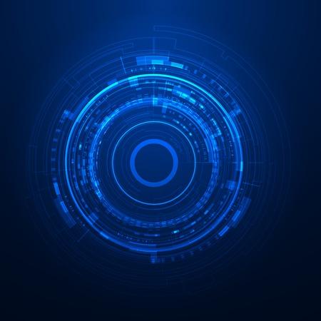 Illustration pour Futuristic graphic user interface - image libre de droit