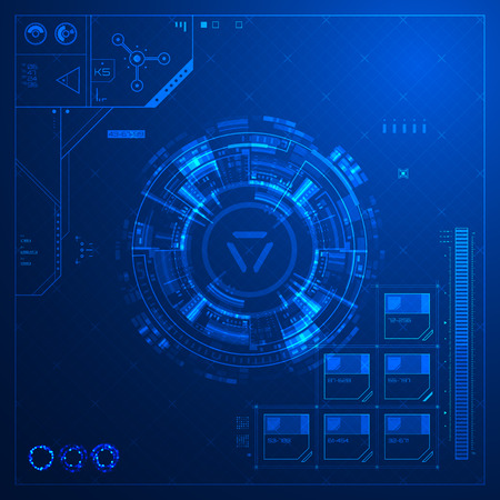 Illustration pour Abstract technological background Vector illustration. - image libre de droit