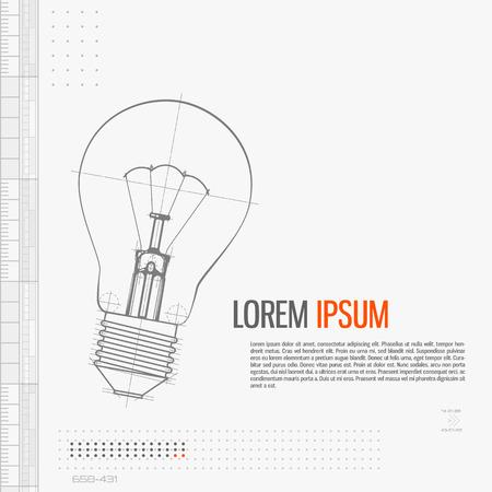 Illustration Of Lightbulb illustration