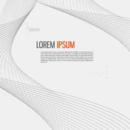 Illustration pour Tech background with abstract wave line. - image libre de droit