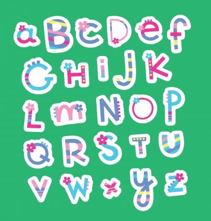 Ilustración de cute childlike alphabet  vector illustration - Imagen libre de derechos