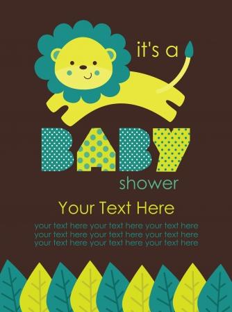 Illustration for cute baby shower design. vector illustration - Royalty Free Image