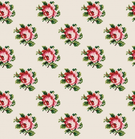 cute floral pattern design. vector illustration