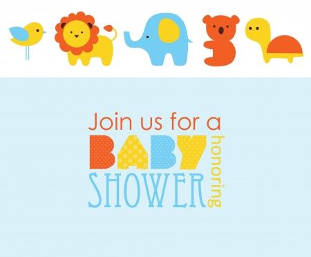 Illustration for baby shower design. vector illustration - Royalty Free Image