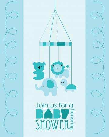 baby boy shower design. vector illustration