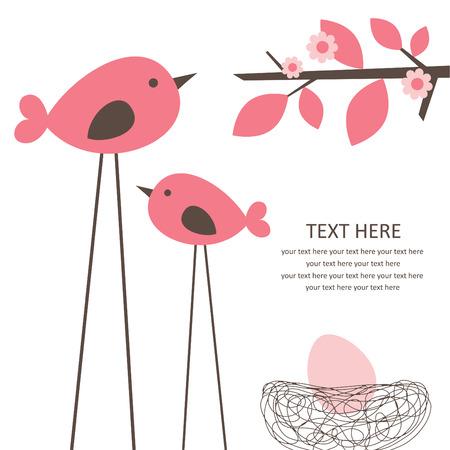 Illustration for cute baby girl shower. vector illustration - Royalty Free Image