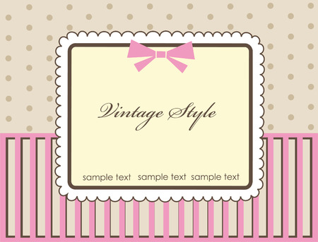 frame design for vintage greeting card. vector illustration