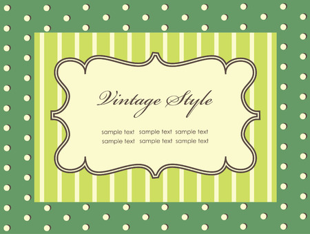 frame design for vintage greeting card.