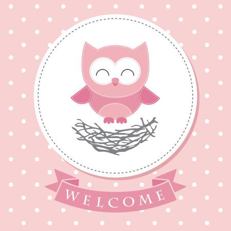 Foto de welcome baby card design. vector illustration - Imagen libre de derechos
