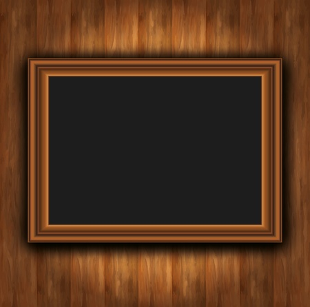 Frame wood board photoframeのイラスト素材