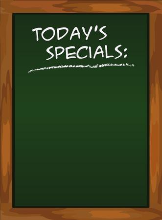 Menu blackboard black Today