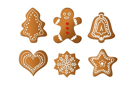 gingerbread isolated vector object