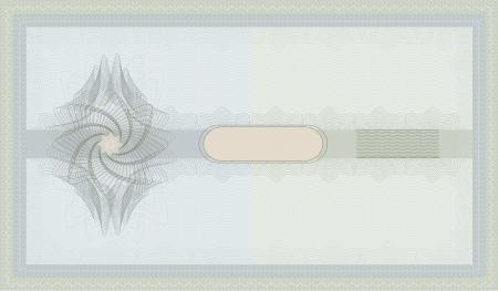 Photo pour raster Voucher Guilloche coupon blue green certificate template security spirograph - image libre de droit