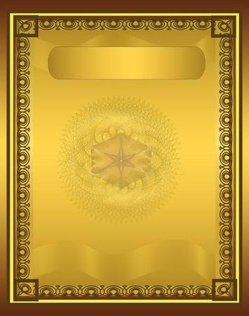 Photo pour raster Certificate Diploma gold vertical - image libre de droit