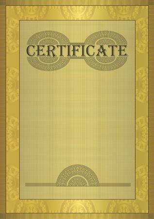 Photo pour raster Certificate gold ornament frame  - image libre de droit