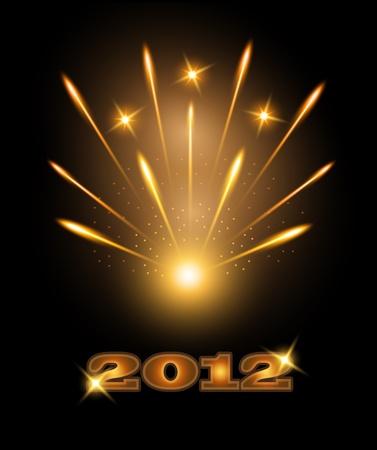 Fireworks happy new year 2012
